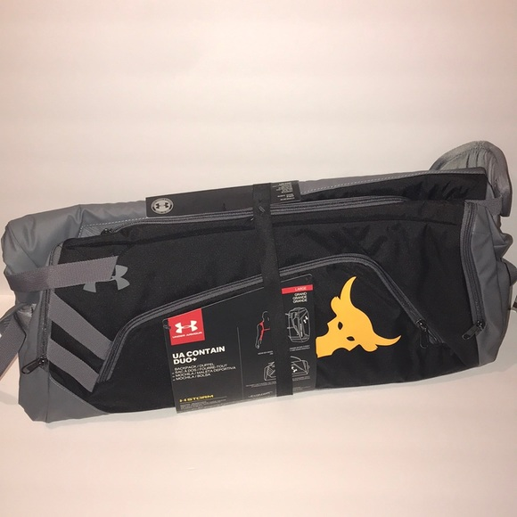 Under Armour Bags   Project Rock Duffle Bagbackpack Firm   Poshmark 416904a814